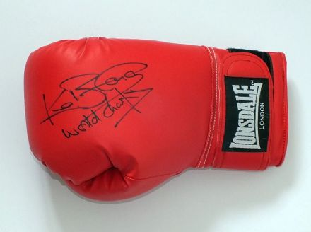 Ken Buchanan, signed Lonsdale boxing glove.